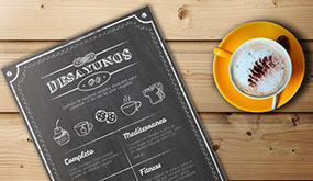 Impresión de cartas de menú para restaurantes