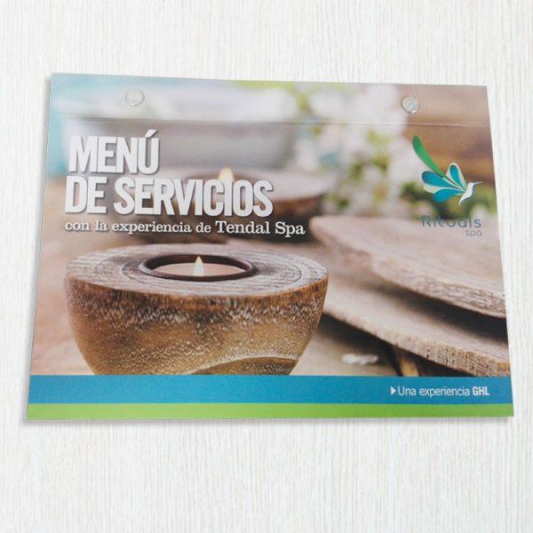 Impresión de cartas de menú para restaurantes en Medellín