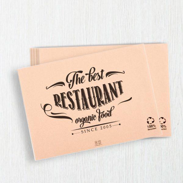 Individuales en papel para restaurante