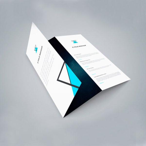 Impresión de plegables o folletos
