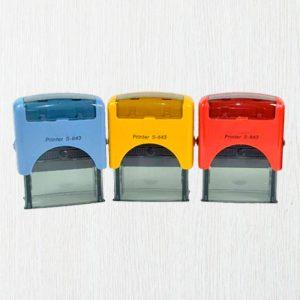 Sellos automáticos de colores