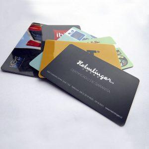 Impresión de tarjetas plásticas