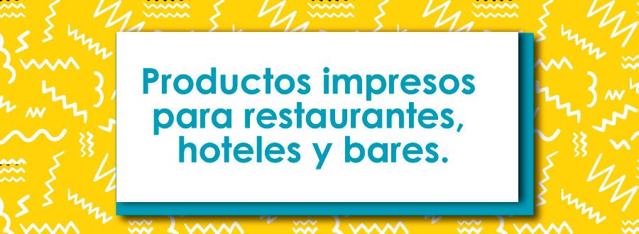 Productos impresos para restaurantes y bares