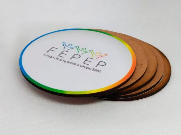 Portavasos personalizados para restaurantes en Litografía en Medellín Imprestar Gráfica